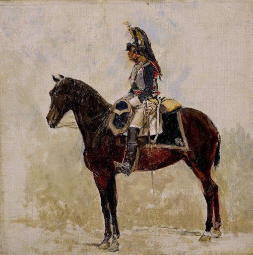 A Cuirassier   Jean-Louis Ernest Meissonier   Oil Painting