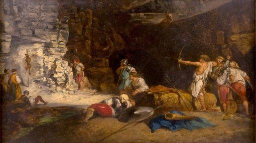 Target Practice   Jean-Louis Ernest Meissonier   Oil Painting