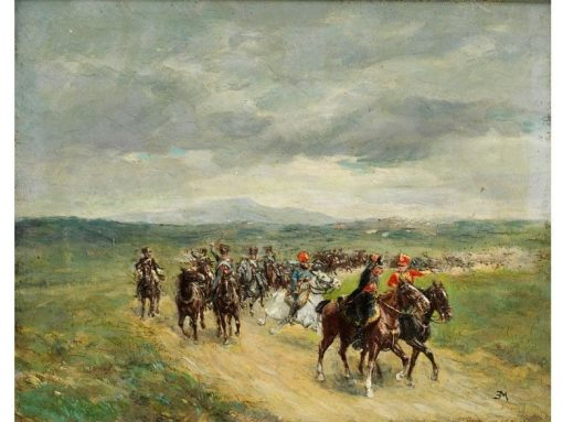 Deployment of the Cavalry | Jean-Louis Ernest Meissonier | Oil Painting