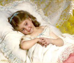 Girl Resting   mile Munier   Oil Painting
