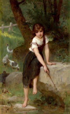 Goose Girl   mile Munier   Oil Painting
