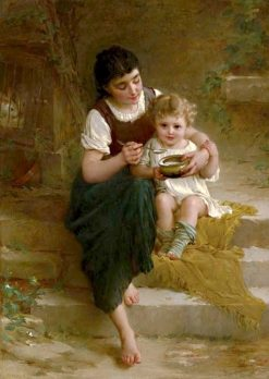 A Tender Moment   mile Munier   Oil Painting