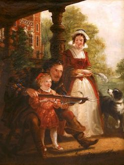 The Crossbow Lesson | James Archer | Oil Painting