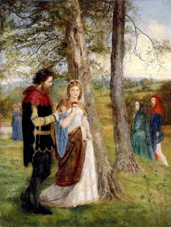 Sir Lancelot and Queen Guinevere | James Archer | Oil Painting