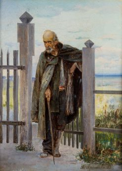 Portrait of a Beggar   Abram Efimovich Arkhipov   Oil Painting