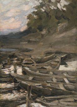The Boats   Abram Efimovich Arkhipov   Oil Painting