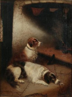 Game Keeper's Fireside | Edward Armfield | Oil Painting