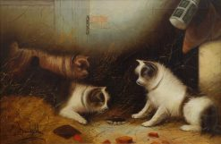 Terriers Ratting | Edward Armfield | Oil Painting