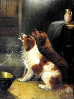 Terriers Begging for Food | Edward Armfield | Oil Painting