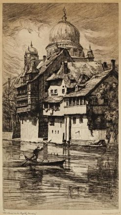 Old House on the Pegnitz River | Frank Armington | Oil Painting