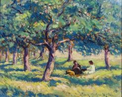 In an Orchard at Caudebec-en-Caux   Frank Armington   Oil Painting
