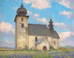 Gothic Church in Žehre | Ludovit ?ordák | Oil Painting