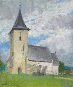 Church in Kysak | Ludovit ?ordák | Oil Painting