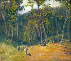 Forest with Sheep | Ludovit ?ordák | Oil Painting