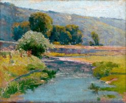 Landscape with Overflowing Stream   Ludovit ?ordák   Oil Painting