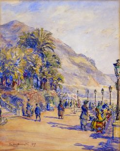 The Terrace at Monte Carlo | Frank Armington | Oil Painting