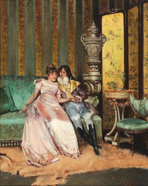 Gallant Scene | Pio Ricci | Oil Painting