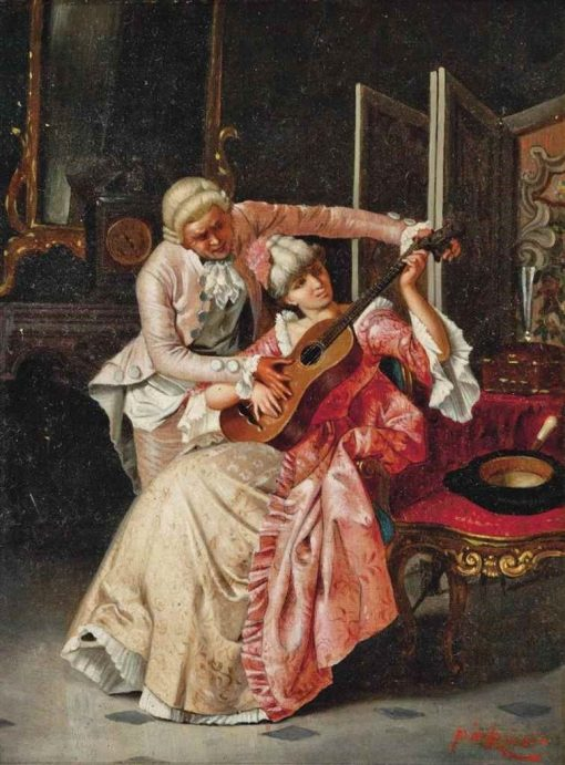 The Music Lesson | Pio Ricci | Oil Painting
