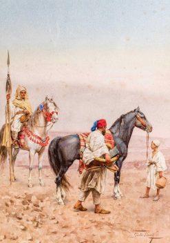 Arabian Horsemen | Giulio Rosati | Oil Painting