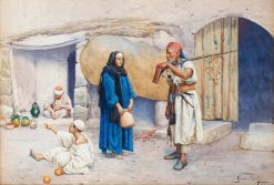 Conversation in front of the Door | Giulio Rosati | Oil Painting