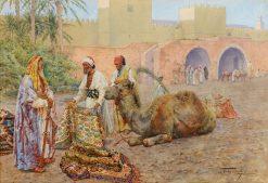 The Carpet Merchants | Giulio Rosati | Oil Painting