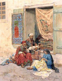 Mending the Carpets | Giulio Rosati | Oil Painting