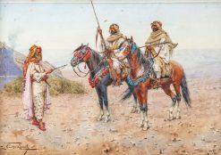 A Break in the Desert | Giulio Rosati | Oil Painting