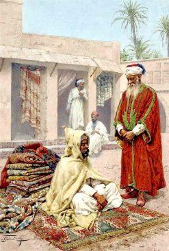 The Carpet Trader | Giulio Rosati | Oil Painting