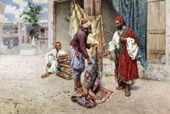 Arabian Carpet Sellers | Giulio Rosati | Oil Painting