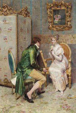 A Token of Love | Giulio Rosati | Oil Painting