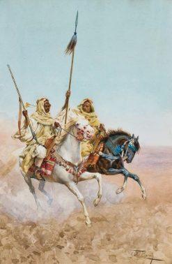 Arabs on Horseback | Giulio Rosati | Oil Painting