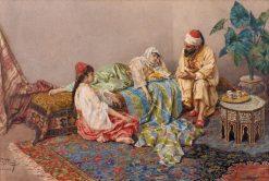 Conversation orientale | Giulio Rosati | Oil Painting