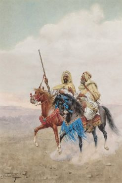 Horsemen of the Desert | Giulio Rosati | Oil Painting
