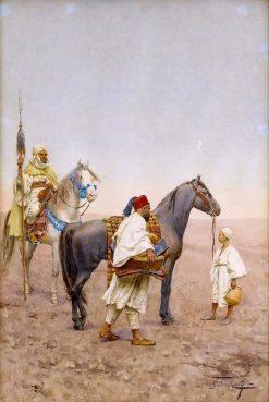 Stopping for Rest in the Desert | Giulio Rosati | Oil Painting