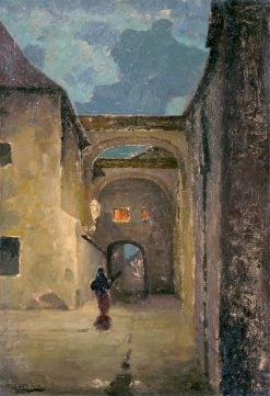 An Alley in the Early Evening | Ludovit ?ordák | Oil Painting
