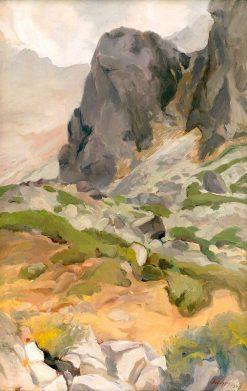 Tatra Mountains   Zolo Palugyay   Oil Painting