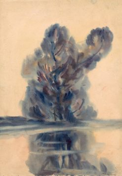 A Blue Tree over a Lake | Zolo Palugyay | Oil Painting