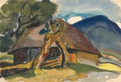 Cottage under the Mountains | Zolo Palugyay | Oil Painting