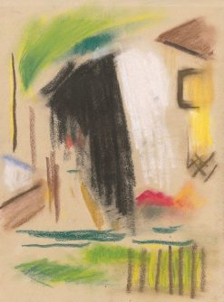House with Fence | Zolo Palugyay | Oil Painting