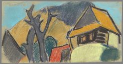 Lonely House   Zolo Palugyay   Oil Painting