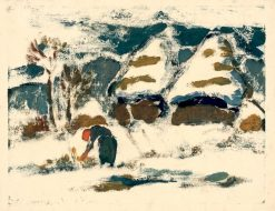 Mountain Landscape with Figure | Zolo Palugyay | Oil Painting