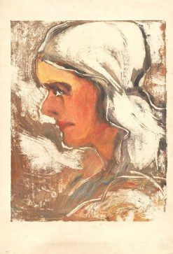 Woman in a Scarf | Zolo Palugyay | Oil Painting