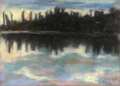 Dark Waterfront | Zolo Palugyay | Oil Painting