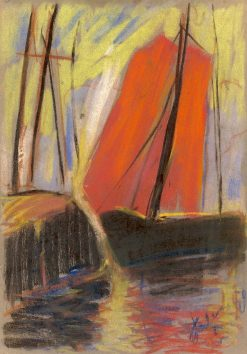 Red Yacht | Zolo Palugyay | Oil Painting