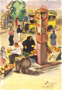 In the Market | Zolo Palugyay | Oil Painting