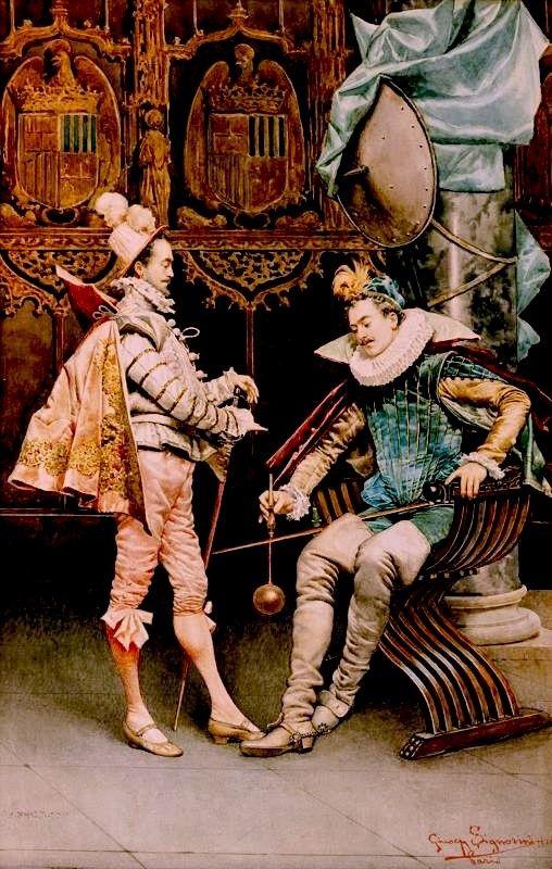Cavaliers in an Elegant Interior | Giuseppe Signorini | Oil Painting