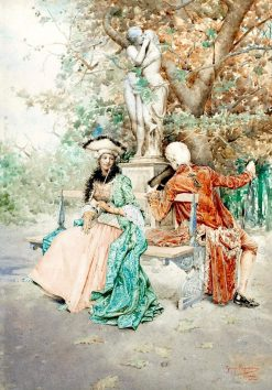 An Unexpected Meeting | Giuseppe Signorini | Oil Painting