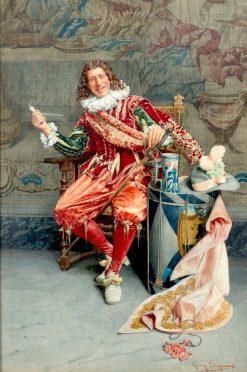 The Smoker   Giuseppe Signorini   Oil Painting