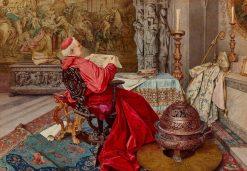 Cardinal in a Chapel   Giuseppe Signorini   Oil Painting
