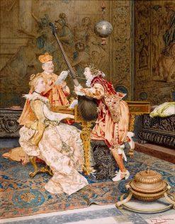 The Music Lesson   Giuseppe Signorini   Oil Painting